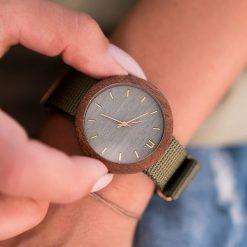 Drewniany zegarek damski new hoop 38 mm n066. Różowe zegarki damskie Pakamera. Za 374,00 zł.