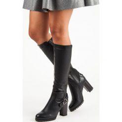 Buty zimowe damskie: DOPASOWANE KOZAKI NA SŁUPKU