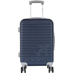 Walizka w kolorze granatowym - 44 l. Niebieskie walizki Teddy Bear, z materiału. W wyprzedaży za 169,95 zł.