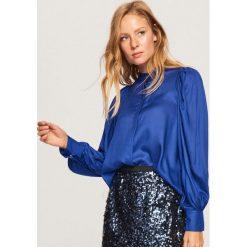 Koszula z bufiastymi rękawami - Niebieski. Niebieskie koszule damskie marki Reserved. Za 89,99 zł.