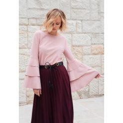 Bluzki damskie: Różowa Bluzka Charming