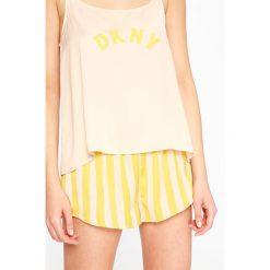 Dkny - Piżama. Różowe piżamy damskie DKNY, l, z nadrukiem, z materiału. W wyprzedaży za 239,90 zł.