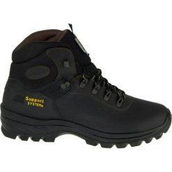 Buty trekkingowe męskie: Grisport czarne buty trekkingowe
