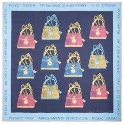 Chusty damskie: Versace 19.69 Chusta Damska Niebieski It Bag