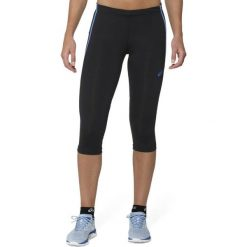 Spodnie damskie: Asics Legginsy damskie Adrenaline Knee Tight Asics Jeans czarne r. S (1229730830)