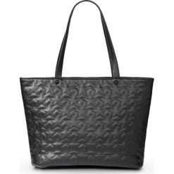 Torba shopper w pikowany wzór bonprix czarny. Czarne shopper bag damskie bonprix, pikowane. Za 74,99 zł.
