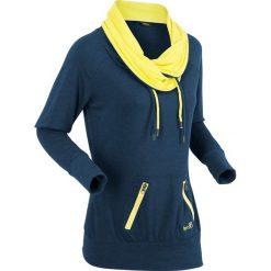 Bluzy damskie: Bluza z długim rękawem bonprix ciemnoniebieski melanż