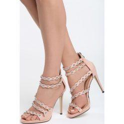 Różowe Sandały I Gotta Go. Czerwone sandały damskie marki Born2be, z materiału, na wysokim obcasie, na obcasie. Za 89,99 zł.