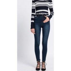 Medicine - Jeansy Work In Progress. Niebieskie jeansy damskie MEDICINE, z bawełny, z podwyższonym stanem. W wyprzedaży za 79,90 zł.