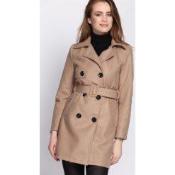Beżowy Płaszcz Observation. Brązowe płaszcze damskie pastelowe Born2be, na jesień, l. Za 149,99 zł.