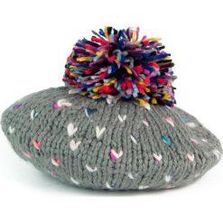 Czapka-beret damska i kolorowy pompon szara (cz2703). Szare czapki zimowe damskie Art of Polo, w kolorowe wzory. Za 47,34 zł.