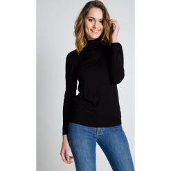 Bluzki asymetryczne: Czarna golfowa bluzka BIALCON