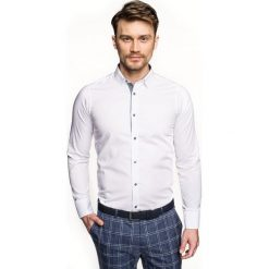 Koszula bexley 2714 długi rękaw slim fit biały. Białe koszule męskie slim Recman, m, z długim rękawem. Za 139,00 zł.