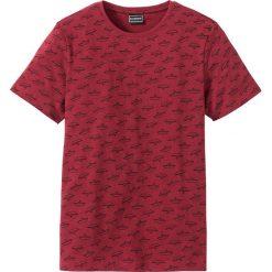 T-shirty męskie: T-shirt Slim Fit z bawełny z recyclingu bonprix czerwony z nadrukiem