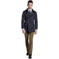 Płaszcz ALVARO PSSS000008. Czarne płaszcze na zamek męskie Giacomo Conti, m, w paski, z tkaniny, eleganckie. Za 599,00 zł.