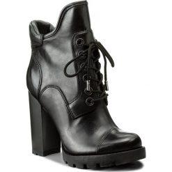 Botki GUESS - Roxey FLROX4 LEA10  BLACK. Czarne botki damskie skórzane marki Guess. W wyprzedaży za 449,00 zł.