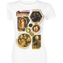 Bluzki asymetryczne: Avengers Infinity War - Golden Group Koszulka damska biały