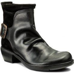Botki FLY LONDON - Mel P141633003 Black. Czarne botki damskie na obcasie Fly London, z materiału. W wyprzedaży za 329,00 zł.
