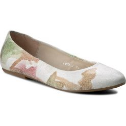Baleriny BALDACCINI - 786500-E Kwiat Zielony. Białe baleriny damskie zamszowe marki Baldaccini, na płaskiej podeszwie. W wyprzedaży za 169,00 zł.