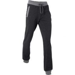 Spodnie sportowe, długie, Level 1 bonprix czarny melanż. Czarne spodnie sportowe damskie marki KIPSTA, l, z bawełny, na fitness i siłownię. Za 74,99 zł.