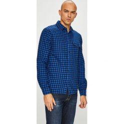 Calvin Klein Jeans - Koszula. Niebieskie koszule męskie jeansowe marki Calvin Klein Jeans, l, w kratkę, z klasycznym kołnierzykiem, z długim rękawem. Za 349,90 zł.