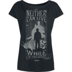 Harry Potter Neither Can Live - Harry & Voldemort Koszulka damska czarny. Czarne t-shirty damskie Harry Potter, s. Za 79,90 zł.
