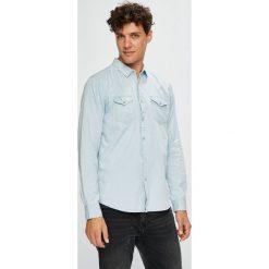 Brave Soul - Koszula. Szare koszule męskie na spinki marki Brave Soul, l, z bawełny, z długim rękawem. W wyprzedaży za 69,90 zł.