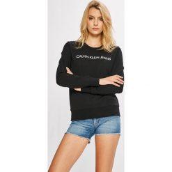 Calvin Klein Jeans - Bluza. Szare bluzy rozpinane damskie Calvin Klein Jeans, l, z nadrukiem, z bawełny, bez kaptura. W wyprzedaży za 279,90 zł.