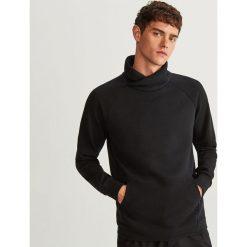 Bluza kangurka z kołnierzem - Czarny. Czerwone bluzy męskie rozpinane marki KALENJI, m, z elastanu, z długim rękawem, długie. Za 99,99 zł.