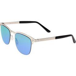"""Okulary przeciwsłoneczne męskie: Okulary męskie """"Archer"""" w kolorze srebrno-niebiesko-zielonym"""