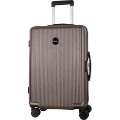 Walizka w kolorze brązowym - 39 l. Brązowe walizki marki Travel One, z materiału. W wyprzedaży za 179,95 zł.