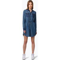 G-Star - Damska sukienka jeansowa – Tacoma, niebieski. Niebieskie sukienki marki G-Star, s, z jeansu, retro, z długim rękawem, koszulowe. Za 569,95 zł.