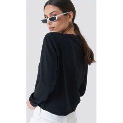 Calvin Klein Bluza Harrisi True Icon Crew Neck - Black. Czarne bluzy damskie Calvin Klein, z aplikacjami, z dzianiny. Za 364,95 zł.