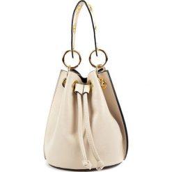 Torebki klasyczne damskie: Skórzana torebka w kolorze beżowym – (S)17 x (W)20,5 x (G)16 cm