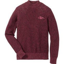 Sweter ze stójką Regular Fit bonprix czerwony rubinowy melanż. Czerwone golfy męskie marki Nike, s, z poliesteru. Za 74,99 zł.