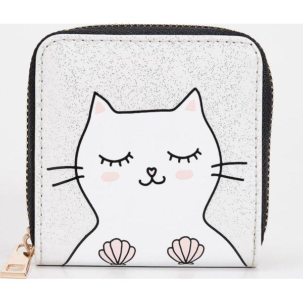 7e835ab193a1f Portfel z kotkiem - Biały - Białe portfele damskie Sinsay. Za 14