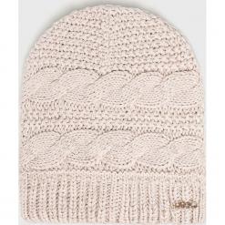 Liu Jo - Czapka. Szare czapki zimowe damskie marki Liu Jo, na zimę, z dzianiny. Za 179,90 zł.