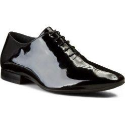 Półbuty GINO ROSSI - Amon MPV524-G92-0600-9900-0 99. Czarne buty wizytowe męskie Gino Rossi, z lakierowanej skóry. W wyprzedaży za 199,00 zł.