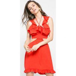 Missguided - Sukienka. Szare sukienki mini marki Missguided, na co dzień, z haftami, z poliesteru, casualowe, dopasowane. W wyprzedaży za 59,90 zł.