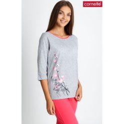 Piżama z koralowymi spodniami 3/4 QUIOSQUE. Brązowe piżamy damskie marki NABAIJI. W wyprzedaży za 79,99 zł.