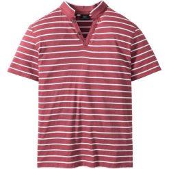 Koszulki polo: Shirt polo Regular Fit bonprix jeżynowy w paski