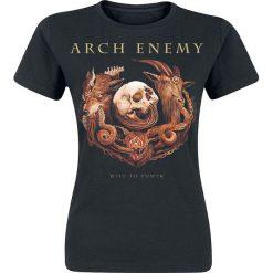 Bluzki asymetryczne: Arch Enemy Will To Power Koszulka damska czarny