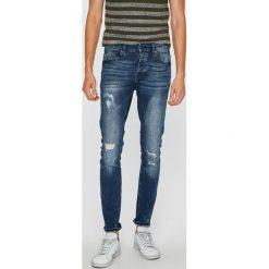 Only & Sons - Jeansy. Niebieskie jeansy męskie slim Only & Sons, z aplikacjami, z bawełny. W wyprzedaży za 149,90 zł.