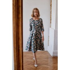 Sukienki: Sukienka Kaja turkusowa kwiecista 32