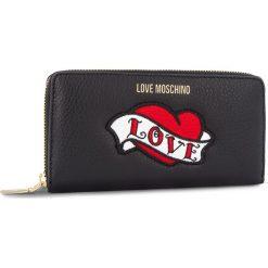 Duży Portfel Damski LOVE MOSCHINO - JC5596PP06KY100A Nero. Czarne portfele damskie Love Moschino, ze skóry. Za 659,00 zł.