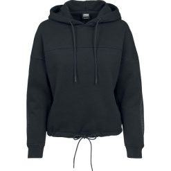 Urban Classics Ladies Oversized Tech Mesh Inset Hoody Bluza z kapturem damska czarny. Czarne bluzy z kapturem damskie Urban Classics, m, z meshu, z krótkim rękawem, krótkie. Za 164,90 zł.