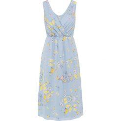 Sukienki: Sukienka bonprix pudrowy niebieski w motyle