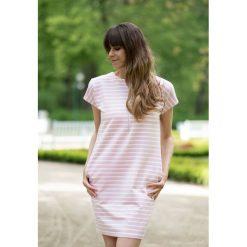 Sukienka w paski do karmienia różowa. Czerwone sukienki ciążowe marki Pakamera, w paski. Za 259,00 zł.