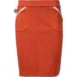 """Spódnica """"Veneno"""" w kolorze pomarańczowym. Brązowe spódniczki marki 4funkyflavours Women & Men, l, midi, proste. W wyprzedaży za 122,95 zł."""
