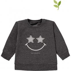 Bluza w kolorze szarym. Szare bluzy dziewczęce rozpinane marki bellybutton, z aplikacjami, z bawełny. W wyprzedaży za 49,95 zł.